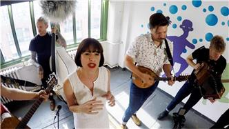 Skinny Lister live at Baeble HQ