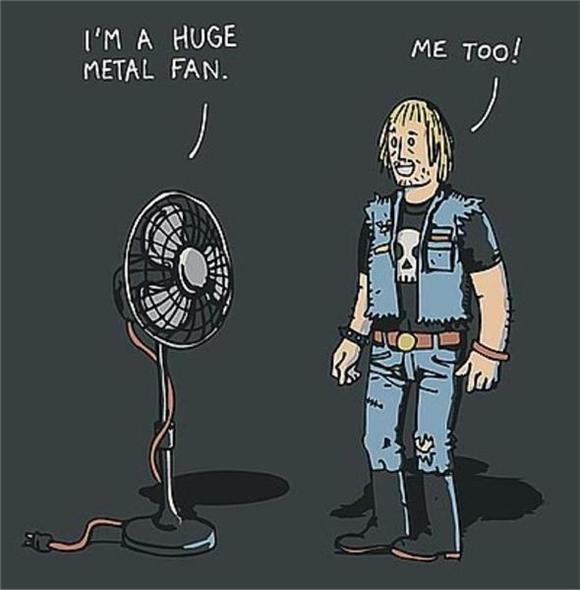 Pic of the Day: Huge Metal Fan
