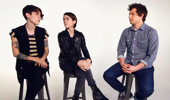Andy Samberg Tries to Woo Tegan and Sara - Someone Should Tell Him...