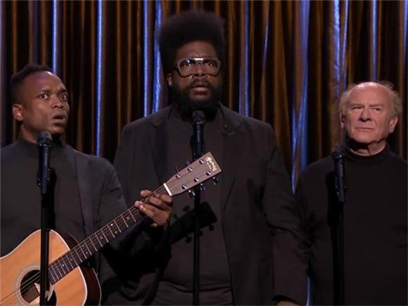 Black Simon & Garfunkel sang The Weeknd with the real Garfunkel