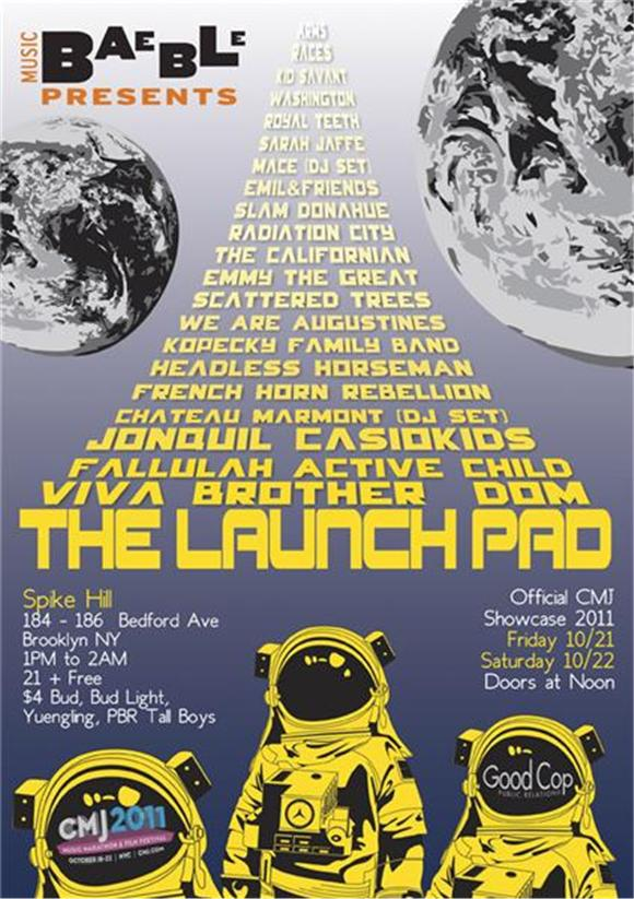 Announcing CMJ 2011: The Launch Pad at Spike Hill