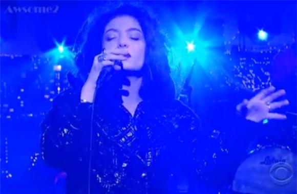Lorde Maintains Her Ominous Cool on Letterman