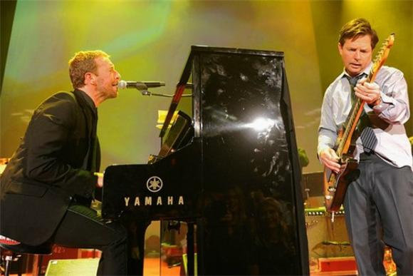 Michael J. Fox and Chris Martin Jammed 'Johnny B. Goode' for Parkinson's Research