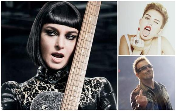 Sinead O'Connor Links U2 To Terrorism, Miley Cyrus To Child Sex Trafficking