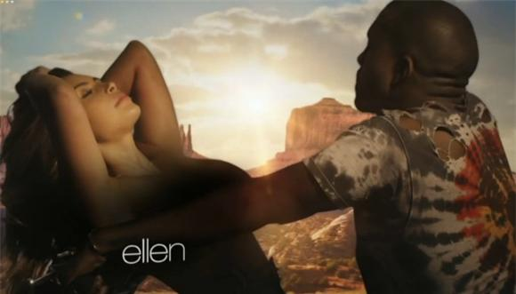 Kanye West Premiered Topless Kim Kardashian Music Video on Ellen