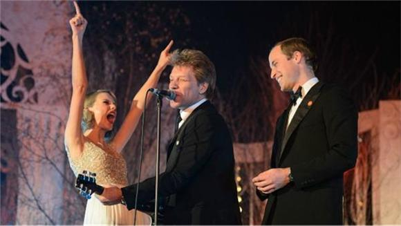 Bon Jovi, Taylor Swift and Prince William Performed 'Living On A Prayer'