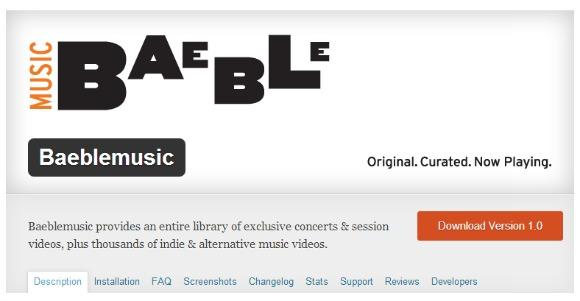 Announcing the Baeblemusic Wordpress Plug-in