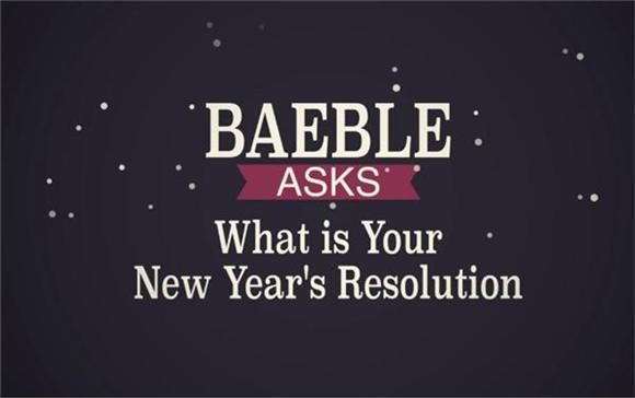 Watch: Baeble Asks 'What's Your New Years Resolution?'