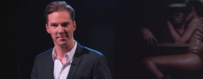 Benedict Cumberbatch Recited 'Genius' and R. Kelly Played a Lady Violin on Kimmel