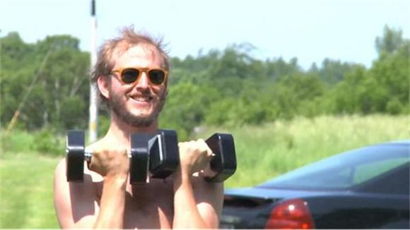 Watch: Bon Iver Workout
