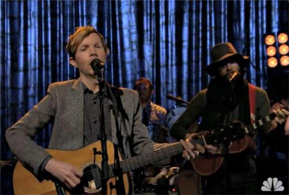 Beck and Father John Misty At It Again On The Tonight Show