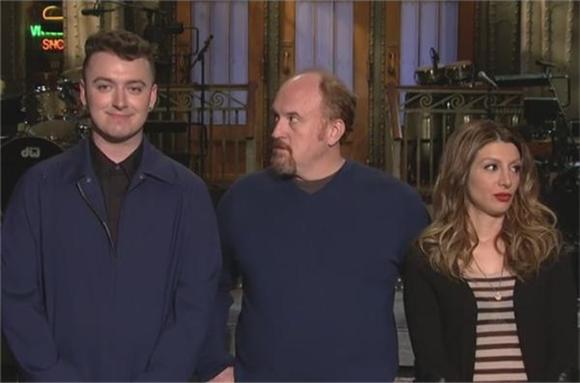 Louis C.K. Gives Sam Smith the Giggles In SNL Promo Reel