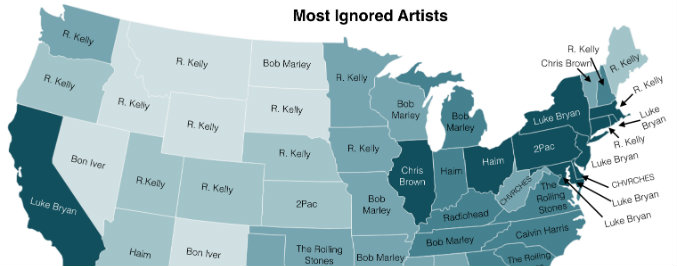 You Can Now Find Your State's Least Favorite Artist