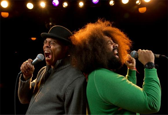 Watch Reggie Watts and Michael Winslow Spar