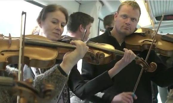 Watch: Copenhagen Metro Flashmob