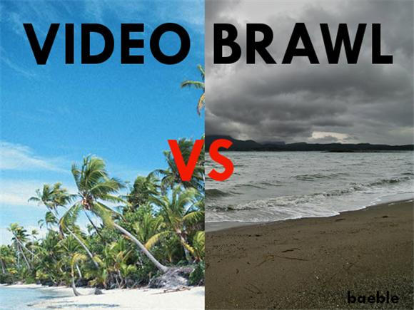 beach video brawl