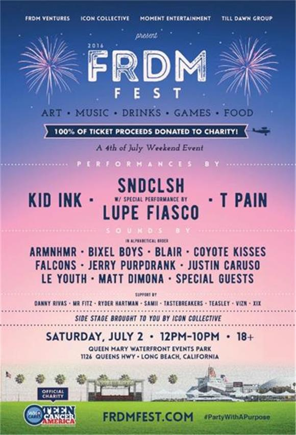 TICKET GIVEAWAY: FRDM Fest with Lupe Fiasco, Kid Ink, T-Pain, and SNDCLSH
