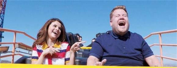 Watch Selena Gomez and James Corden Sing Their Hearts Out On a Roller Coaster