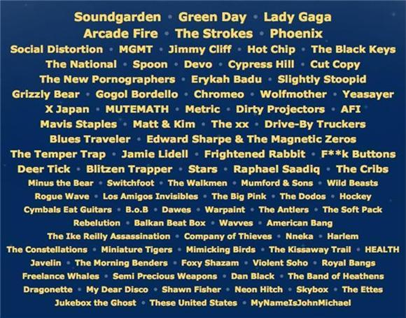 lollapalooza schedule released