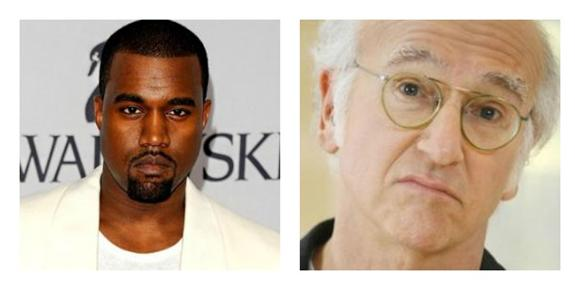 Kanye West Does a Terrible Larry David Impression