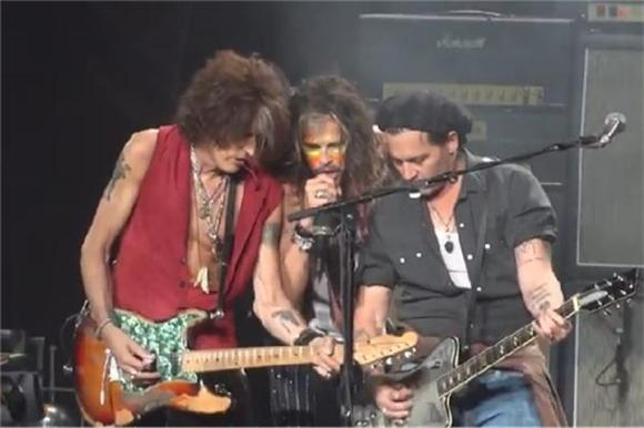 Watch Johnny Depp Shred Alongside Aerosmith