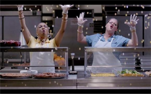Watch: Kmart's Back-to-School Lunch Ladies Serve Corn, Realness