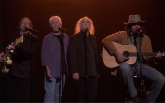 Neil Young aka Jimmy Fallon Covered 'Fancy' with Crosby, Stills and Nash