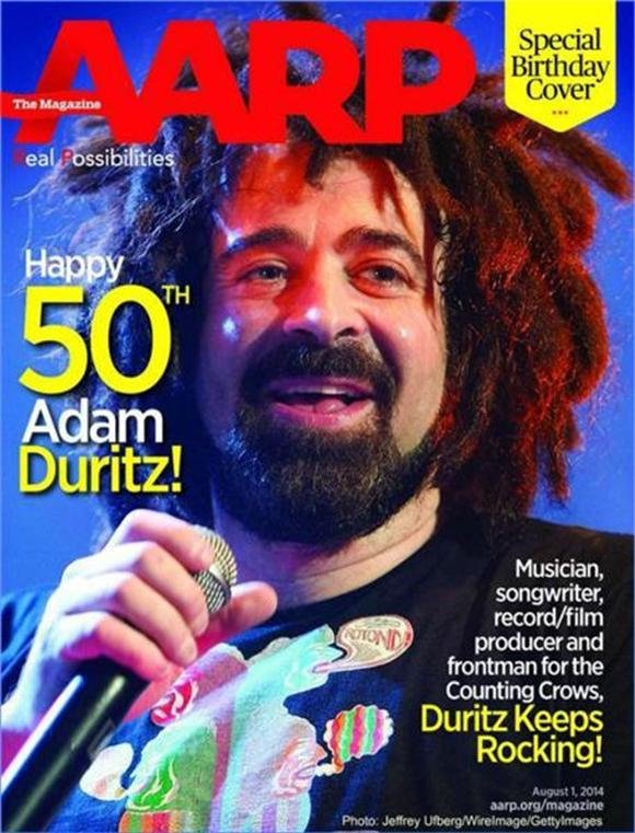 Counting Crows Frontman Celebrates 50th Birthday On AARP Magazine Cover