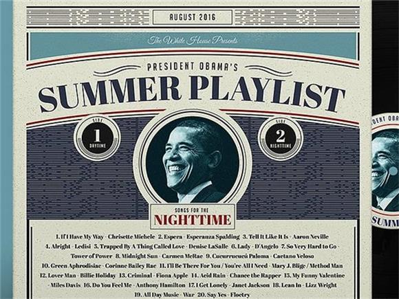 Obama Made a Summer Playlist? So Did Hillary and Trump