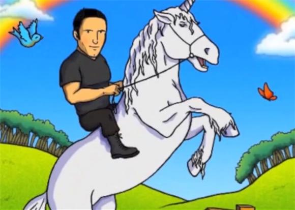 Trent Reznor Rides a Unicorn In Fan-Made 'Everything' Video