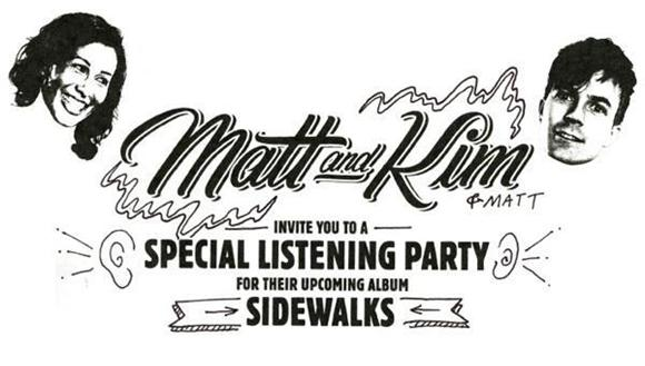 matt and kim announce listening party