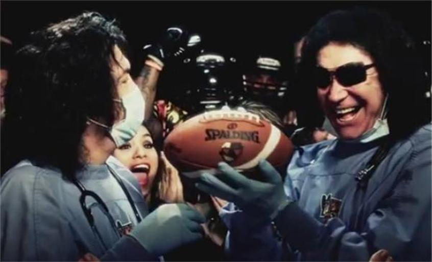 While The NFL Is Busy Banning TD Celebrations, KISS Pulls A Football Out Of A Vagina