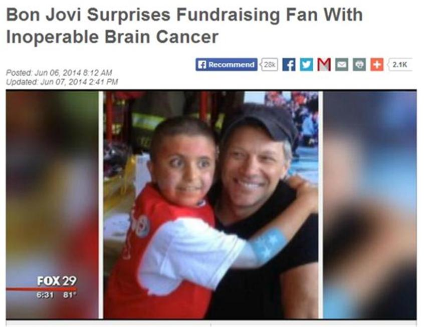 Headline Fail Implies Bon Jovi Is a Sadist