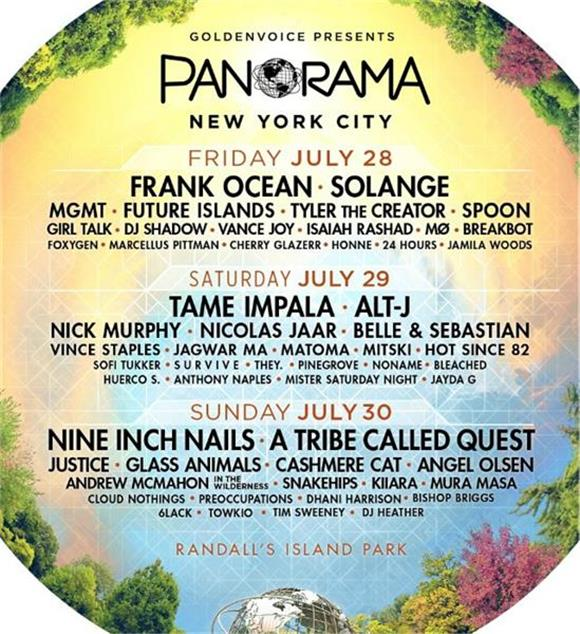 Panorama Festival Lineup Includes Frank Ocean, Nine Inch Nails, A Tribe Called Quest, Solange, and More