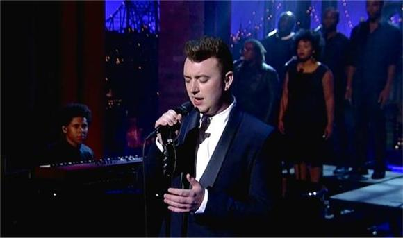 Sam Smith Performs Latest Single