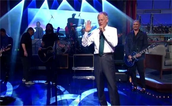 David Letterman Tears Up Post-Foo 'Miracle'