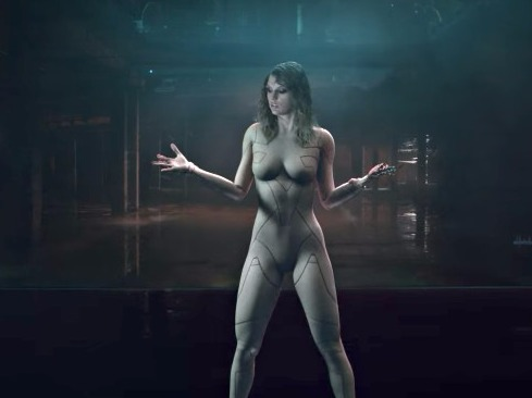 Taylor Swift looks almost  naked in cyborg bodysuit for new music video