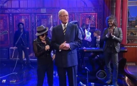 We Dare You To Watch Yoko Ono and The Flaming Lips on Letterman