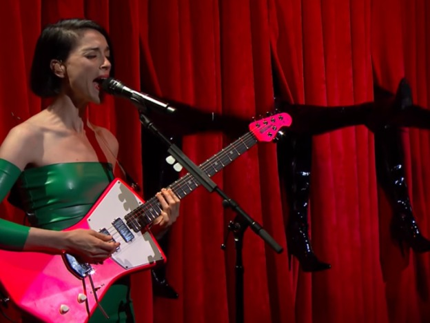 St. Vincent Gives Us Twin Peaks Realness on Colbert