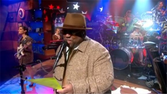 late night: cee lo on colbert