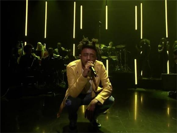 Amine Gets Loud, Proud, and Political With 'Caroline' on The Tonight Show