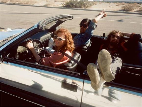 Justice Cruise Through Sunny CA With Susan Sarandon in Their Video For 'Fire'