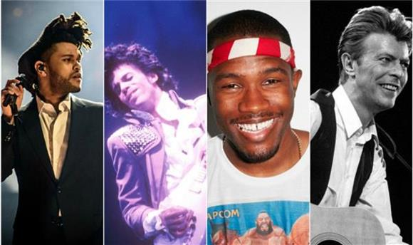 How Frank Ocean and The Weeknd Paid Massive Homage to the Legends of Bowie and Prince in 2016