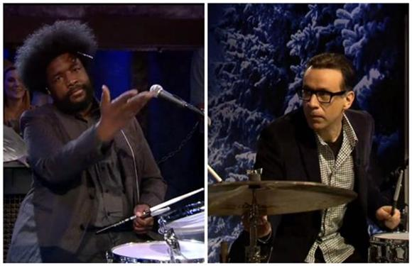 Watch Fred Armisen and 'Late Night' Predecessor Questlove's Drum-Off