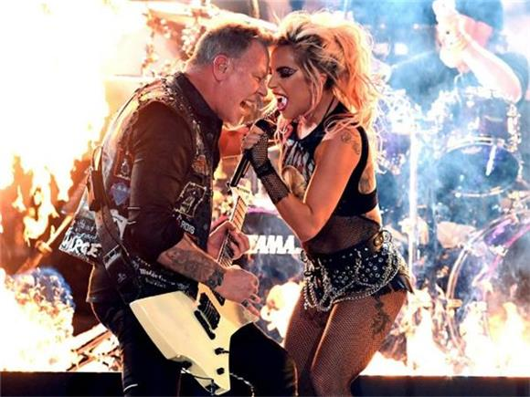What Was Going on with Lady Gaga and Metallica's Grammy Performance