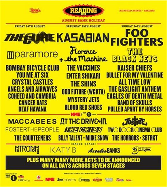 Reading and Leeds Announce Initial Lineup