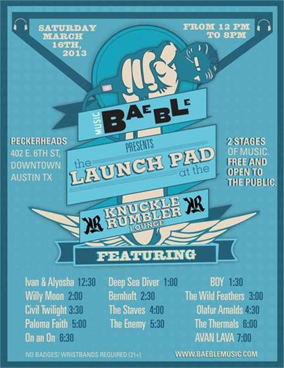 SXSW 2013: The Launch Pad at the Knuckle Rumbler Lounge
