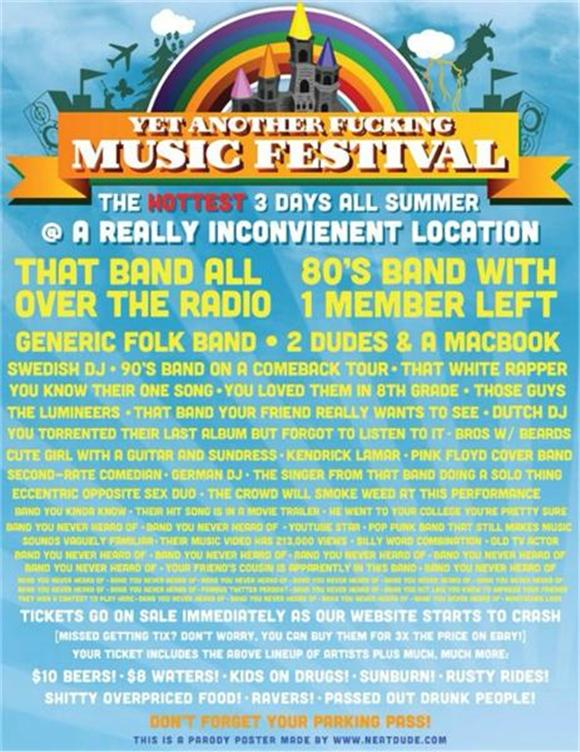 Yet Another Music Festival Lineup