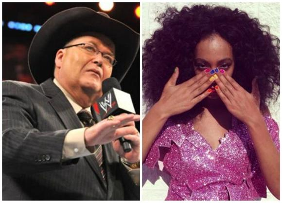 Good GAHD! Hear WWE's Jim Ross Commentate Solange's Smackdown