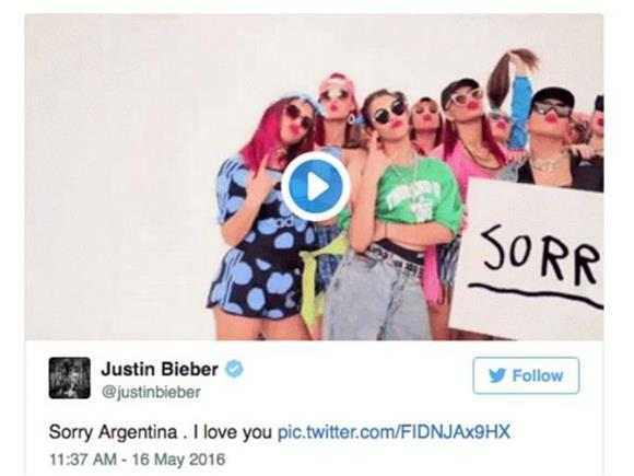 Justin Bieber is Through with Argentina